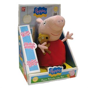 Peppa Pig peluche con voz 28X12X19Cm Bandai 84255