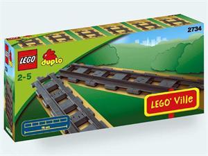LEGO DUPLO VIAS RECTAS 2734
