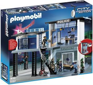 Playmobil Comisaria de policia con sistema de alarma 5182