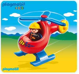 Playmobil 1.2.3 helicóptero rescate 6789