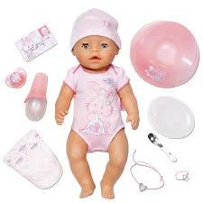 Muñeca Baby Born Interactivo Niña con accesorios Bandai 815793