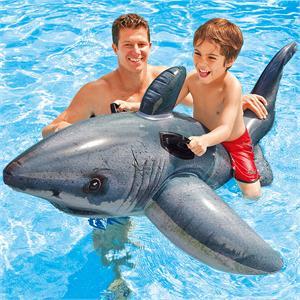 Figura Tiburón Hinchable con asas 173X107 Cm Intex 57525