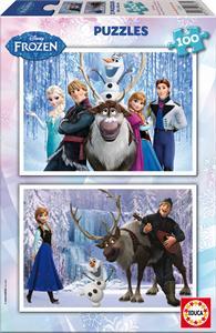 Frozen Puzzle 2 X 100 Piezas Educa 15767