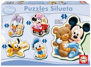 Puzzle baby Mickey progresivo silueta Educa 13813