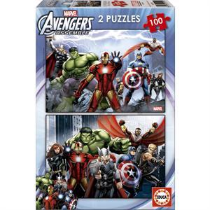 Puzzle Super Heroes Marvel Avengers  2 X 100 Piezas EDUCA 15771