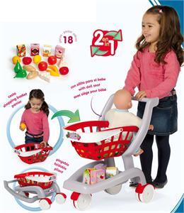 Carrito supermercado con 18 accesorios y silla para bebé CHICOS 84153