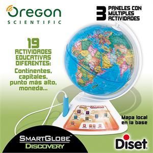 Globo interactivo Oregon Smart Discovery 19 actividades Diset 504924