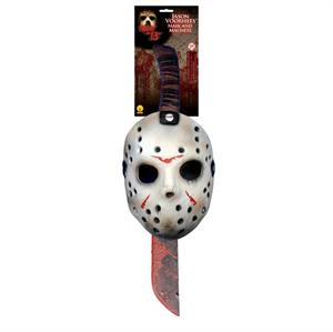 Halloween 15 Máscara y Machete set Jason Rubies  8785
