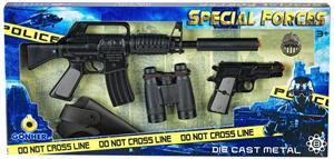 Conjunto Policia Con Rifle Asalto 8 Tiros y Pistola Con Complementos Gonher 446