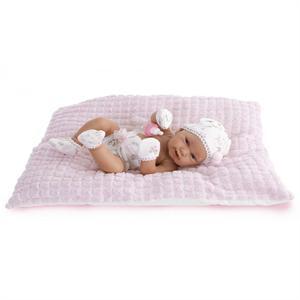 Muñeca recién nacida Pipa 42 cm con cojín rosa Antonio Juan 5090