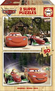 Puzzle Madera Cars 2x50 Educa 16372
