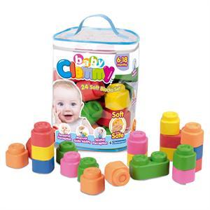 Bolsa de contrucción Baby Clemmy 24 bloques blanditos Clementoni 14889