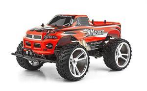 Coche radio control Monster Truck 4x4 Masher scala 1:10 con cargador y bateria de larga duración Ninco 93056