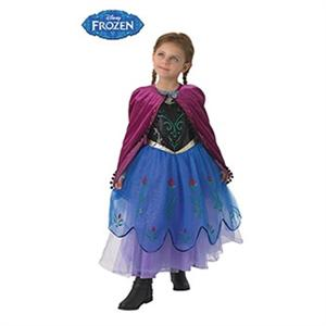 Frozen disfraz infantil Anna premium talla L 7 a 8 años Rubies 610868-L SOLO DISPONIBLE EN TIENDA