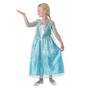 Frozen Elsa disfraz infantil premium talla L 7 a 8 años Rubies 610869-L