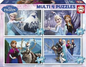 Frozen multi 4 puzzles 50-80-100-150 piezas Educa 16173