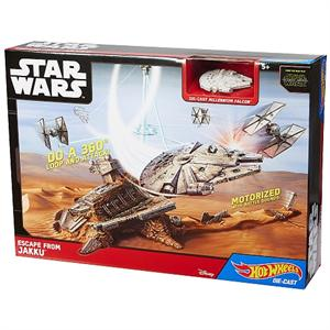 Hotweels pista Star Wars gran nave estelar escapando de Jakku Mattel 32CGN
