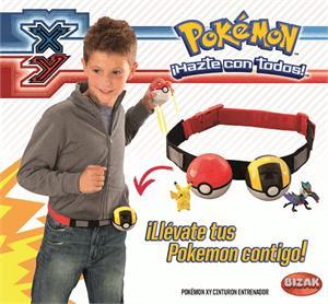 Pokémon cinturón de entrenador con dos pokémon Bizak 8027