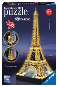 Puzzle 3D Torre Eiffel con luz led Ravensburger 12579