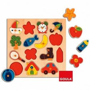 Goula Puzzle Madera sSlueta 15 piezas Diset 53023