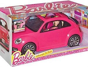 Coche Volkswagen  Beetle de Barbie con muñeca Mattel 37BJP