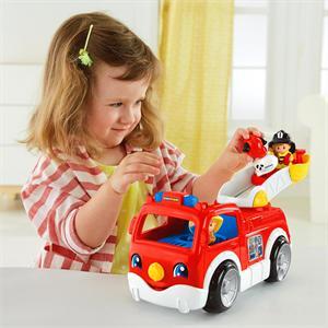 Fisher Price Little People camión de bomberos cantarín Mattel DNR29
