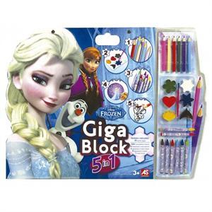 Frozen 2 Libro de Pegatinas para Pintar Giga Block Cefa 21803