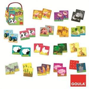 Goula Memo Loto Animales de Granja 34 piezas Diset 53414