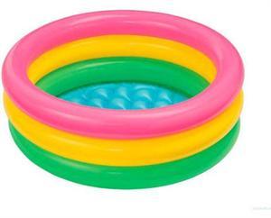 Piscina 61x22cms 3 tubos de colores 34 litros Intex 57107