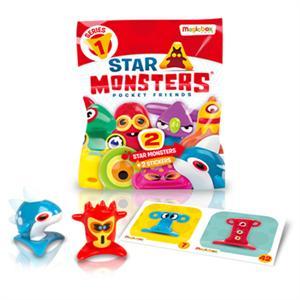 Star Monster sobre 2 figuras y 2 stickers Magicbox 766 modelos surtidos