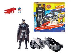 Batman Figura Liga de la Justicia 30cm Con vehiculo Mattel 10FBR