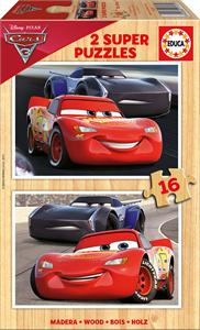 Cars 3 Puzzle 2x16 piezas madera Educa 17172