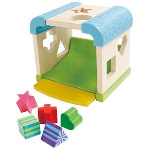 Cubo de formas de madera Reig Toys 4348