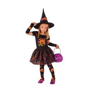 Disfraz Bruja Candy Infantil Talla L- 8 a 10 años (Solo Venta en Tienda) Rubie's 8349-L