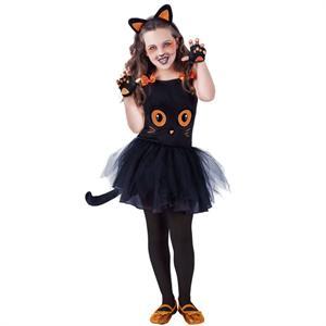 Disfraz Gatita Negra TuTuWeens Talla-M 5 a 7 años (Solo Venta en Tienda) Rubie's 8410-M