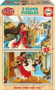 Elena Avalor Puzzle 2x25 piezas madera Educa 17235