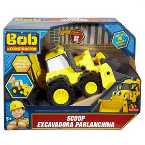 Fisher Price Bob Constructor Excavadora parlanchina Scoop Mattel 87FHF