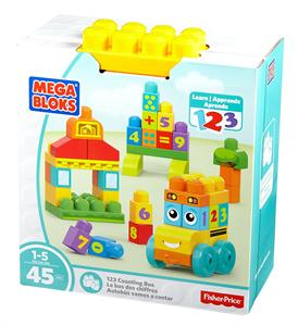 Fisher Price Construcción Autobús vamos a contar Mega Bloks Mattel 80FBM