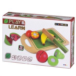 Juego Frutas Madera Color Baby 42759