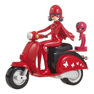 Ladybug Moto con figura Bandai 39880