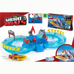 Micro Boats circuito competición+1 barco Color Baby 42788