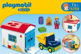 Playmobil 1.2.3 Camión con garaje 6759