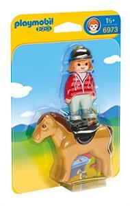 Playmobil 1.2.3 Jinete con Caballo 6973