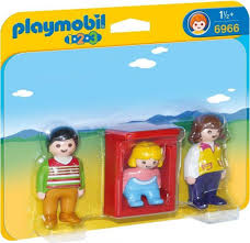 Playmobil 1.2.3 Padres con Bebé 6966