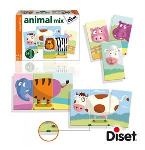 Puzzle Animal Mix Diset 63975