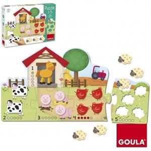 Puzzle granja 1-5 Goula 53438