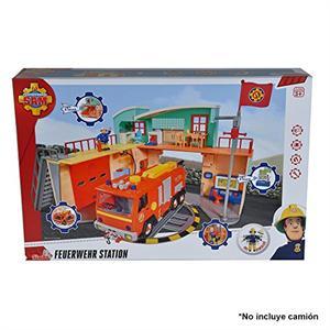 Sam El Bombero Estación de bomberos con figura Simba 9258282