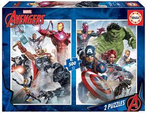 Avengers Puzzle 2x500 Piezas Educa 17994