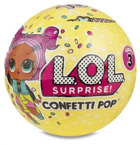 Bola L.O.L Surprise Confeti Pop Serie 3 Giochi Preziosi 9000LLU