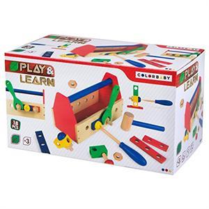 Caja Herramientas Madera 18 piezas Color Baby 42751